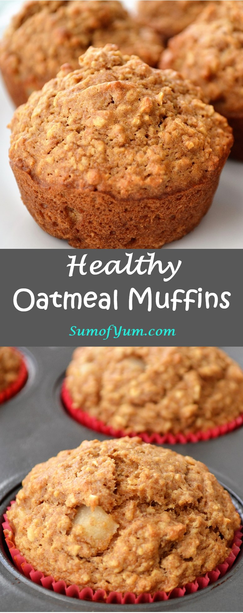 Healthy Oatmeal Muffins Recipe The Sum Of Yum