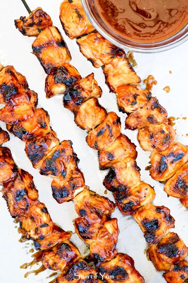 Bbq Chicken Skewers Sum Of Yum