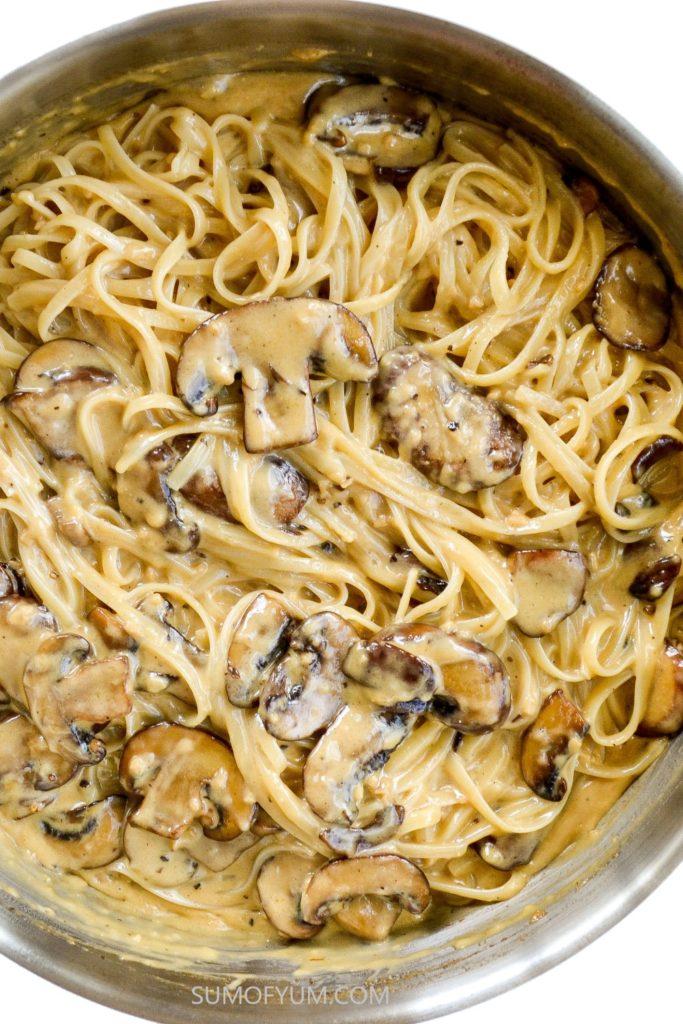 Creamy Mushroom Pasta Recipe Sum Of Yum